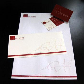 Papier Entete Et Carte De Visite